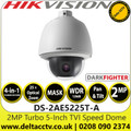 Hikvision 2MP Analog Speed Dome Camera - Darkfighter - 4-in-1 TVI/AHD/CVI/CVBS - 25× optical zoom, 16× digital zoom - DS-2AE5225T-A