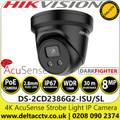 Hikvision DS-2CD2386G2-ISU/SL/Black 8MP 2.8mm Lens Darkfighter Built-in Two-way Audio Alarm Warning AcuSense Network PoE Turret Camera