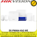 AX Pro DS-PWA64-Kit2-WE Bundle includes 1 AXPRO L-level hub, 2 PIR detectors, 1 keypad, 1 magnetic contact, 1 external siren