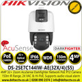 Hikvision - DS-2SE7C144IW-AE 4MP AcuSense DarkFighter IR PTZ PoE Network Camera with 32X optical zoom, 16X digital zoom