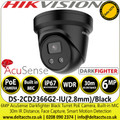 Hikvision DS-2CD2366G2-IU/BLACK (C) 6MP 2.8mm Lens AcuSense DarkFighter Black Turret Network IP Camera - Built-in Microphone