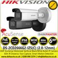 Hikvision DS-2CD2666G2-IZS (2.8-12 mm) 6MP AcuSense DarkFighter Motorized Varifocal Lens Outdoor Bullet Network IP Camera - Face Capture - Smart motion detection
