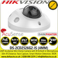 Hiikvision 2MP 4mm Lens AcuSense Darkfighter Mini Dome Network PoE Camera with IR & Built in Microphone - DS-2CD2526G2-IS  (4mm)