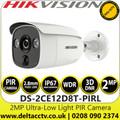 Hikvision  2MP Ultra Low Light PIR Outdoor Bullet  Analog Camera, 2.8mm Lens, 30m IR Range - DS-2CE12D8T-PIRL