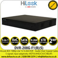 HiLook  DVR-208G-F1(B)(S) 8-Channel 1080p Lite AoC 1U H.264 8 Channel DVR