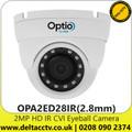 2MP Full HD Outdoor IR CVI Eyeball Camera - Fixed Lens - 30 m IR Range - IP67 - OPA2ED28IR (2.8mm)