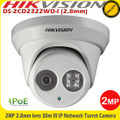 Hikvision DS-2CD2322WD-I 2MP 2.8mm lens 30m IR CCTV IP Network Turret Camera