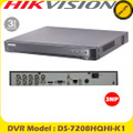 Hikvision DS-7208HQHI-K1 8 Channel Turbo 3 HD-TVI/AHD/Analogue H.265+  DVR