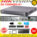 Hikvision DVR DS-7208HQHI-K1 8 Channel Turbo 3 HD-TVI/AHD/Analogue H.265+