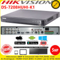 Hikvision DS-7208HUHI-K1 DVR 8 Channel 5MP Turbo 4 HD-TVI/AHD DVR With HDMI/VGA