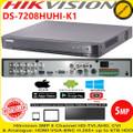 Hikvision DS-7208HUHI-K1 DVR 8 Channel 5MP Turbo 4 HD-TVI/AHD DVR With HDMI/VGA
