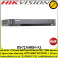 Hikvision DS-7216HUHI-K2 16 Channel DVR 8MP Turbo 4 HD-TVI/AHD DVR With HDMI/VGA