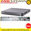 Hikvision DS-7204HUHI-K1/P 4Channel 5MP Turbo 4.0 PoC DVR