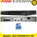 Hikvision 4 CH 4K NVR 1x HDD BAY 4x PoE