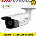 Hikvision 4MP 4mm PoE Bullet H.265+ Camera DS-2CD2T43G0-I5