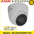 Hikvision 8MP high resolution (4K) 2.8mm fixed lens ultra low light turret CCTV Camera - 60m IR distance