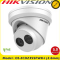 Hikvision DS-2CD2355FWD-I 5MP 2.8mm fixed lens turret IP Network CCTV Camera with IR