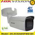 Hikvision DS-2CD2685FWD-IZS 8MP motorized varifocal lens IP bullet camera 50m IR distance