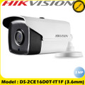 Hikvision 2MP 4-in-1 Bullet 3.6mm 20M IR Fixed Lens Outdoor Camera DS-2CE16D0T-IT1F