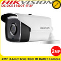 Hikvision DS-2CE16D0T-IT3F 2MP 3.6mm fixed lens 4-in-1 40m IR CCTV Bullet Camera