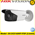 Hikvision 2MP 4-in-1  80m IR 3.6mm Fixed Lens Outdoor Bullet Camera DS-2CE16D0T-IT5F