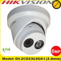 Hikvision DS-2CD2363G0-I 6MP 2.8mm lens  WDR IP67 30m IR CCTV Turret IP Network Camera