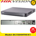 Hikvision DS-7204HTHI-K1 4 Channel TVI Turbo 4.0 8MP ONVIF CCTV DVR Connectable to HD-TVI, AHD, IP, CVI & analogue cameras
