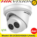 Hikvsion DS-2CD2343G0-I 4MP 4mm Fixed Lens IP67 ONVIF CCTV Turret IP Network Camera 30m IR