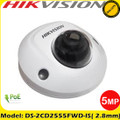 Hikvision DS-2CD2555FWD-IS 5MP 2.8mm Fixed Lens CCTV Mini Dome IP Network Camera