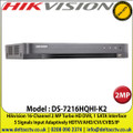 Hikvision - 16 Channel 2MP DVR, 5 Signals Input Adaptively HDTVI/AHD/CVI/CVBS/IP, 1 SATA Interface, 10TB HDD Capacity, H.265 Pro+/H.265 Pro/H.265 Video Compression, Audio Via Coaxial Cable - DS-7216HQHI-K1