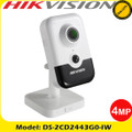 Hikvision 4MP fixed lens PIR cube camera with IR  wifi & built in microphone/speakers