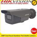 Hikvision DS-2CE16H1T-IT3ZE/GREY 5MP motorized varifocal lens EXIR POC Outdoor bullet camera 40m IR