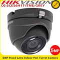 Hikvision DS-2CE56H1T-ITME/GREY 5MP 2.8mm fixed lens PoC EXIR eyeball camera - 20m IR
