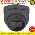 Hikvision DS-2CE56H1T-IT3ZE/GREY 5MP 2.8 - 12mm motozied vari-focal lens PoC CCTV Turret Camera - 40m IR