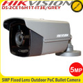 Hikvision DS-2CE16H1T-IT3E/GREY 5MP 2.8mm fixed lens EXIR POC CCTV Bullet Camera - 40m IR