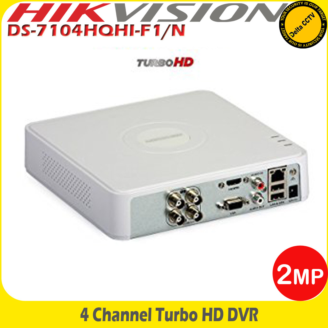 Hikvision 4Channel Full HD1080p Turbo HD-TVI/AHD DVR With HDMI/VGA