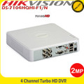 Hikvision 4Channel Full HD1080p Turbo HD-TVI/AHD DVR With HDMI/VGA Support- DS-7104HQHI-F1/N