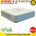 Hikvision 4Ch PoE NVR 6MP 1x HDD BAY Incoming 40Mbps & Outgoing 80Mbps - DS-7104NI-E1/4P