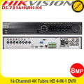 Hikvision 16 Channel 8MP Hybrid Turbo 4 HD-TVI/AHD DVR With HDMI/VGA -DS-7316HUHI-K4
