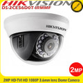Hikvision DS-2CE56D0T-IRMMF 2MP 3.6mm Fixed Lens 20M IR  4-in-1 Dome Indoor CCTV Camera
