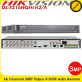 Hikvision DS-7216HQHI-K2/A 16 Channel 3MP K2 Turbo 4 HD-TVI/AHD/Analogue H.265+  DVR with Alaram