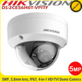 Hikvision DS-2CE56H0T-VPITF 5MP 2.8mm fixed lens HD-TVI 4-IN-1 20m IR Dome Camera  IP67, IK10