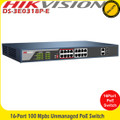 Hikvision DS-3E0318P-E 16 Port PoE 100mbps unmanaged switch
