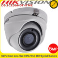 Hikvision DS-2CE56H0T-ITME  5MP 2.8mm fixed lens 20m IR IP67 PoC EXIR eyeball camera