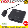 Hikvision DS-2CD6425G0-10 2MP 3.7mm Covert IP Network CCTV Camera & Decoder