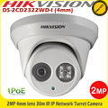 Hikvision DS-2CD2322WD-I 2MP 4mm lens 30m IR PoE CCTV IP Network Turret Camera1080P PoE IP Turret Camera