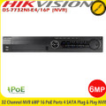 Hikvision NVR DS-7732NI-E4/16P  32 Channel NVR 6MP 16 PoE Ports Plug & Play NVR  4x HDD Bay