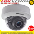 Hikvision DS-2CE56H0T-ITZE 5MP 2.7-13.5mm motorized varifocal lens 40m IR PoC EXIR indoor CCTV Dome Camera