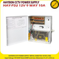 HAYDON PSU 12V 9 WAY 10A Metal Boxed CCTV Power Supply