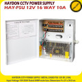 HAYDON PSU 12V 16 WAY 10A  Metal Boxed CCTV Power Supply